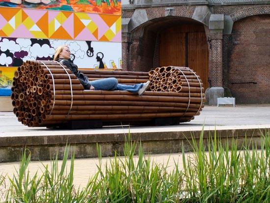 Contemporary-Garden-Bench-Made-of-Bamboo-by-Elena-Goray